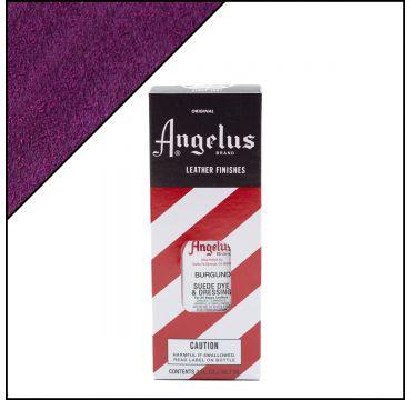 Angelus Suede Dye Burgundy Red 3oz