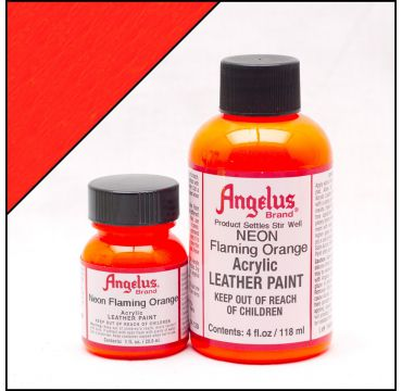 Angelus Leather Paint Flaming Orange